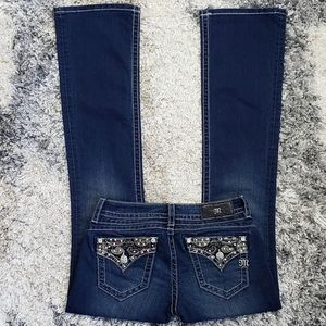 Miss Me Signature Boot Cut Jean's.  Size 27.